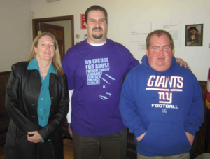 Executive Director Tina Cornish- Lauria (left) helped Coordinate Mentoring Day in conjunction with the Putnam County Executive's office and the Putnam County Coordinating Council for People with Disabilities. Mike Bartolotti (center) mentored CAREERS' client Mark Trulieb (right) in the County Clerk's Office.