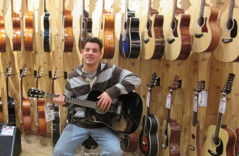 We tailor activities to the interests of our participants; going to The Guitar Center in Danbury is one of Doug's favorite outings!