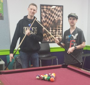 Playing Pool at Iona