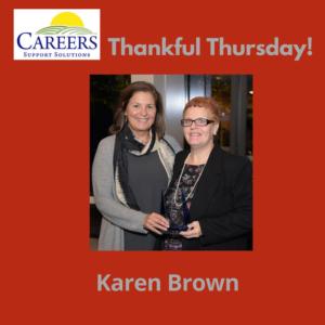 Karen Brown with Eileen Morra